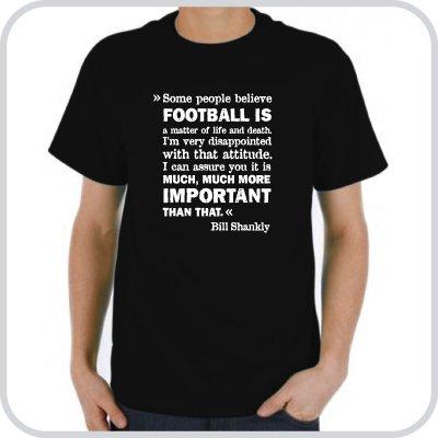 T-Shirt Bill Shankly ::: Colour: black ::: Sizes: S-XL (football)
