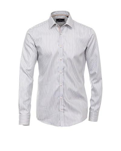 Venti Camicia Uomo [Grigio/Bianco]