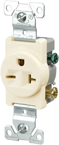 Cooper Wiring 1876La Single Grounding Receptacle, Light Almond