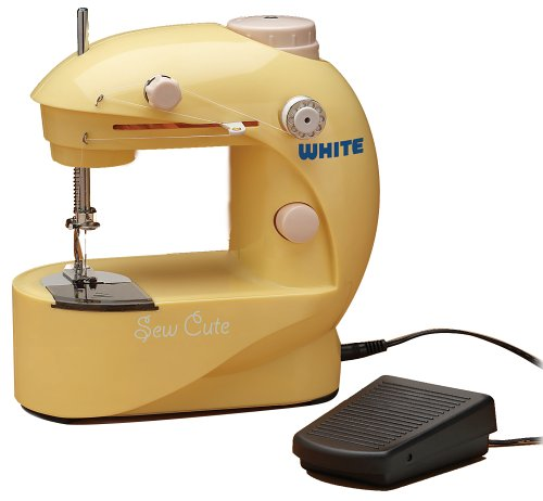 White SC20 Sew Cute Battery/AC Sewing Machine