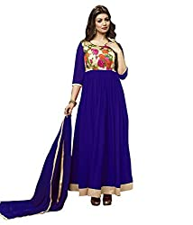 Madhav Fashion georgette Salwar Suit Dupatta Material in Blue