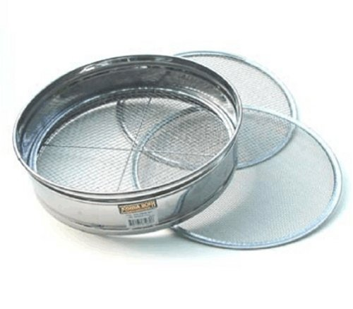 4pc Soil Sieve Set (not for food), Stainless Steel 12