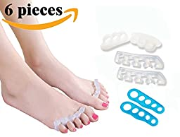 Outdoorpro Comprehensive Toe Separators Kit! Toe Spacers, Toe Stretchers for Dancers, Yogis and Athletes. Treatment for Hammer Toe, Bunion Relief, Foot Pain Relief, Plantar Fasciitis, Hallux Valgus