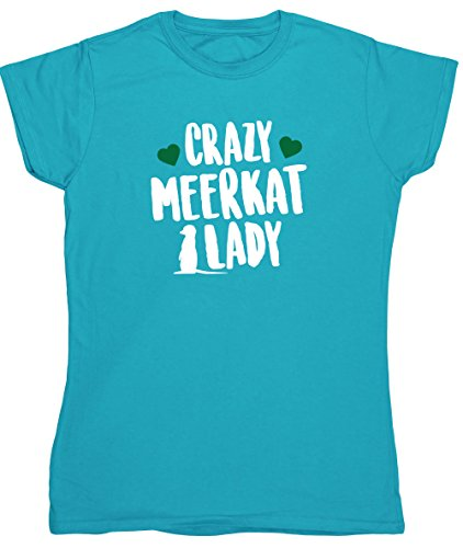 hippowarehouse-crazy-meerkat-lady-womens-fitted-short-sleeve-t-shirt