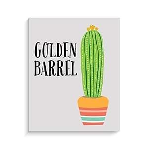 Amazon.com : Golden Barrel Cactus Imprimir decoración de la pared, 8