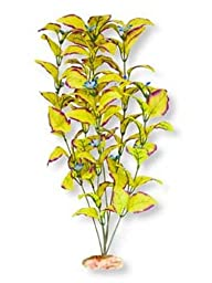 Vibran-Sea Flowering Willow Leaf Silk-Style Aquarium Plant, Large 13-14 tall, Yellow