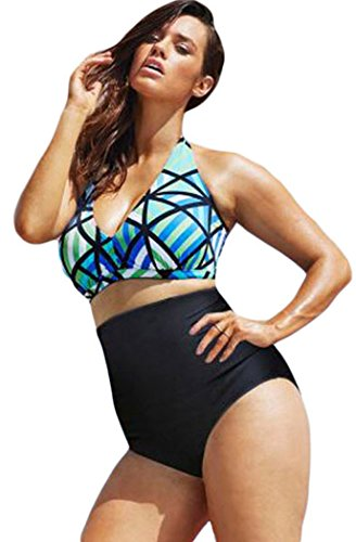 TomYork The Diva Beach Glass Plus Size High Waist Bikini