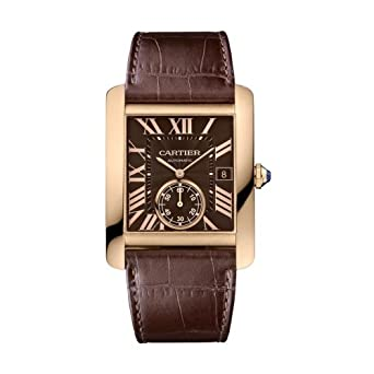 Cartier Tank MC Men's Automatic 18K Rose Gold with Chocolate Dial - W5330002