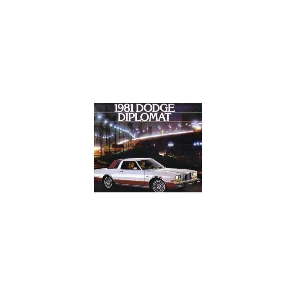 1981 Dodge Diplomat Sales Brochure Literature Book Advertisement Options Specs