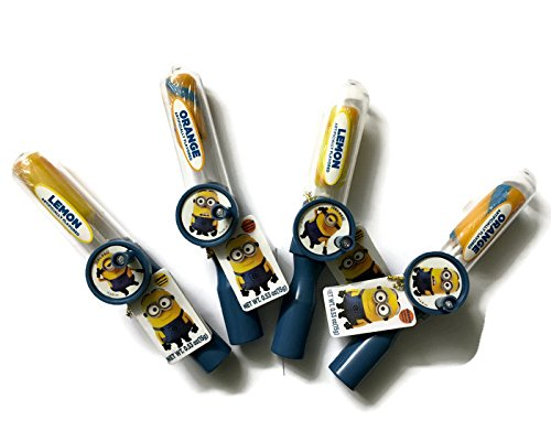 Minions Sweet Spinz -- Turn wheel and lollipop spins. Featuring assorted swirly fruit-flavored lollipops 4 pack (Minions Fruit compare prices)