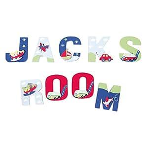 Amazon.com : JoJo Maman Bebe Wooden Letters, Primary T : Baby