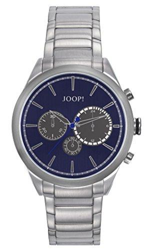 Orologio Uomo Quarzo Joop! display Cronografo cinturino Acciaio inossidabile Argento e quadrante Blu  JP101931001