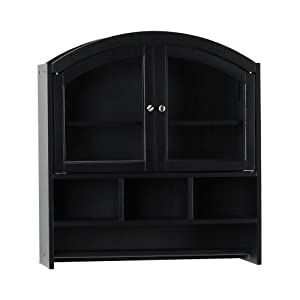 amazon     sei black arch top bathroom wall cabi