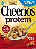 General Mills, Cheerios, Protein Cereal, Cinnamon Almond, 14.1oz Box (Pack of 4)