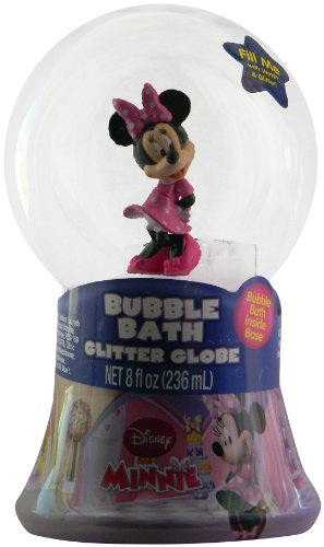 Disney Minnie Mouse Bubble Bath Glitter Globe by MZB Accessories - 1
