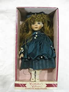 Porcelain Doll Collector's Choice With Green Dress and Red Hair