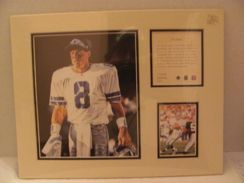 "Vintage - TROY AIKMAN (Dallas Cowboys / NFL / Hall of Famer) - 1996 - LIMITED EDITION Original Art KRSI (Kelly Russell Studio Inc.) Collectibles - Matted Lithograph Individually Numbered PRINT #11558 (approx. 11"" x 14"") / Original Painting by Tim Cortez at Amazon.com"