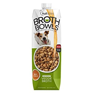 Fruitables Broth Bowls Pet Safe Natural Food Topper (Vegetable, 33.8oz)