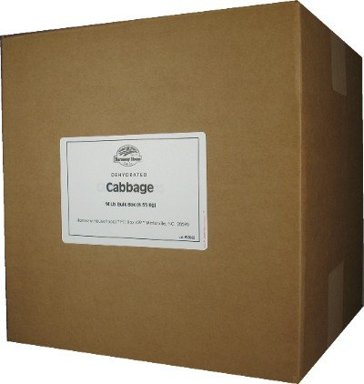 Dehydrated Cabbage (26 Lb. Bulk Box) - For Cooking, Camping, Hiking, Food Storage, Emergency Preparedness