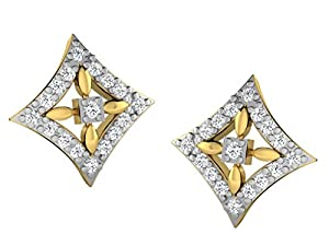 Sparkles 0.1 Cts Diamond Earrings in 10KT Yellow Gold (GH Color, SI Clarity)