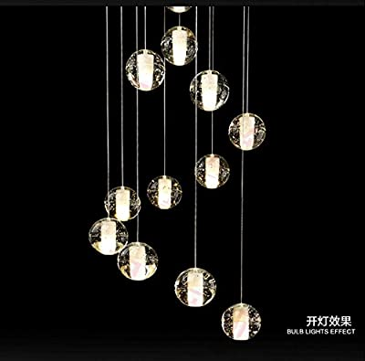 Getop DIY Customized 36-balls 29.53*29.53''(75*75cm)base Meteor Bubble Crystal Chandeliers Lighting Fixtures 100% Magic Crystal Pendant Lamp