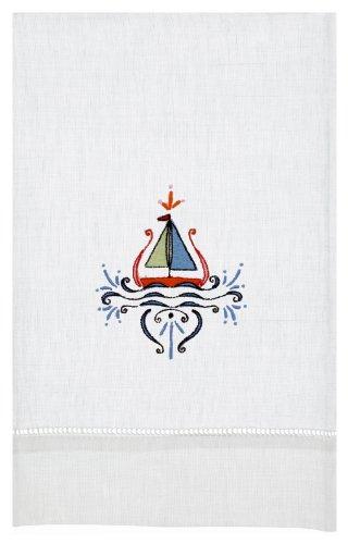 Sailboat Linen Tea Towel