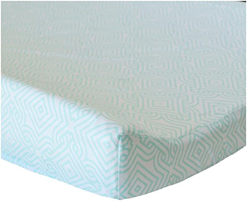 Oliver B Stems Changing Pad Cover - Sea Green - 1