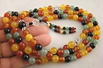 Big Sale Best Cheap Deals Tibetan Rainbow Agate Mala Counter Rock Quartz/Markers