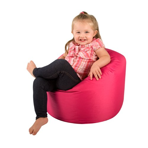 FUCHSIA PINK Kids Bean Bags Indoor/Outdoor Brights - Great 1st Kids Bean Bag