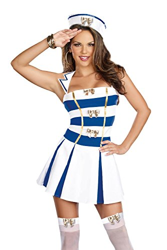 BeautyXTP Women Sailor Uniforms Nautical Halloween Fancy Dress Cosplay Costume (Type 7) (Sweetheart Sailor Adult Womens Costume)