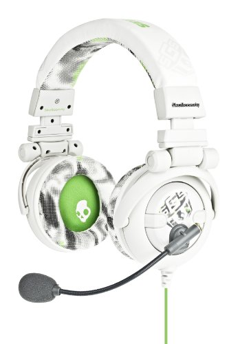Skullcandy GI S6GIBX-WG Gaming Headphones with Mic for Xbox White/Green