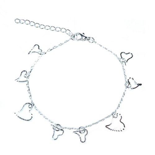 Fashion 925 Silver Beautiful Bracelets Heart-shaped