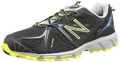 New Balance Mt610 D V2, Chaussures de running homme - Noir - Schwarz (BY2 BLACK/YELLOW 8), 44.5 EU