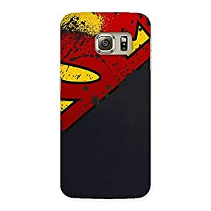 Ajay Enterprises Super red S Back Case Cover for Samsung Galaxy S6 Edge Plus