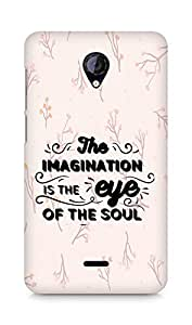 Amez The Imagination is the Eye of the Soul Back Cover For Micromax Unite 2 A106