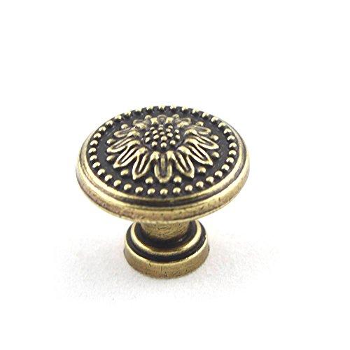 Temax Antique Bronze Finish British Euro Cabinet Closet Door Handles Pulls Knobs