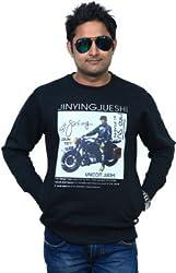 Unicott_Round-Neck Sweatshirt_Black_Large