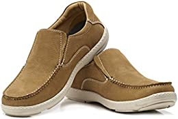Brent Shoes Mens Mocca Leo Leather Casuals