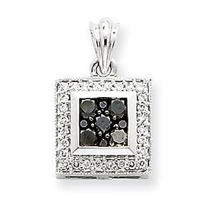 IceCarats Designer Jewelry 14K Wg Black Diamond Pendant
