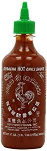 Huy Fong, Sriracha Hot Chili Sauce, 17-Ounce Bottles (Pack of 6)