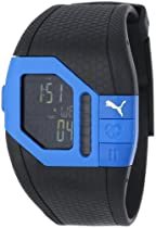 PUMA Unisex PU910391002 Cardiac Plus Blue and Black Heart Rate Monitor Watch