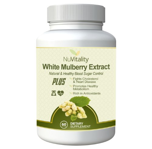 #1 Quality White Mulberry Extract Complex: Pure White Mulberry Leaf Extract 1000Mg, Active Blood Sugar Blocker With No Additives As Seen On Dr. Oz, No Side Effect Plus Promotes A Healthy Metabolism & Accelerates Weight Loss - 2 Month Supply - 100% Money B