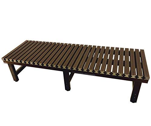炎天下でも座面が熱くならない! 偽木風樹脂製座面の『アルミ濡れ縁』180×60×40(cm) JTNE-1860