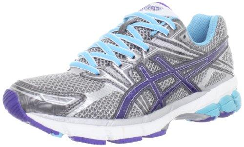 ASICS Women's GT-1000 Running Shoe,Titanium/Iris/Turquoise,12 B US ASICS Running autotags B007K5FLA2