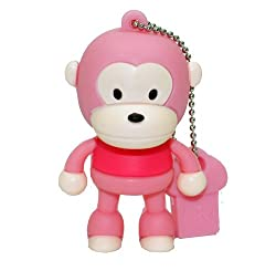 Ricco ® Baby Monkey USB High Speed Flash Memory Stick Pen Drive Disk (16GB PINK)