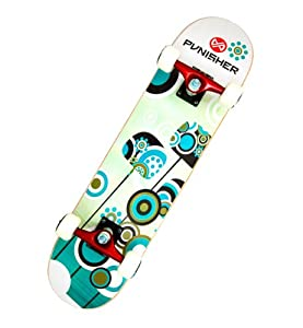 Buy Punisher Skateboards Essence Complete 31-Inch Skateboard with Canadian Maple by Punisher Skateboards