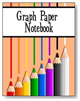 Graph Paper Notebook For Kids - Eight colored pencils provide some subtle inspiration and brighten the cover of this graph paper notebook for younger kids.