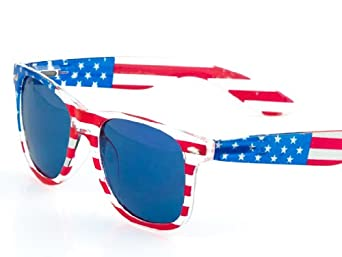 Patriot Wayfarer Clear Flag- Blue lens Edition.
