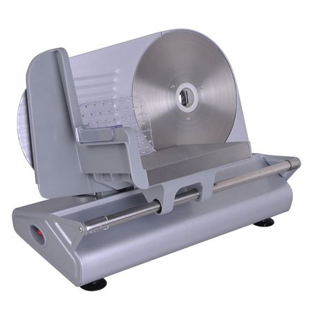 "Professional Silver 150W Power Electric Food Slicer Meat Cutter Stainless Steel 8½"" Blade 0 - 13 Mm Size Adjust For Home Kitchen Appliance Market Deli Slice Machine"