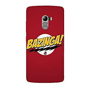 Clapcart Bazinga Design Printed Mobile Back Cover Case For Lenovo K4 Note / Lenovo A7010 - Multicolor